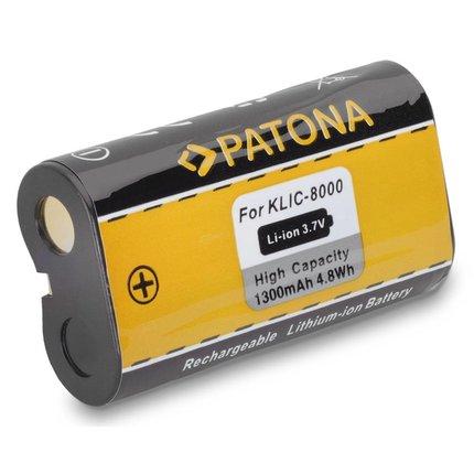 Patona Accu Kodak EasyShare Z612 Z712 IS Z812 IS Z1012 IS KLIC-8000