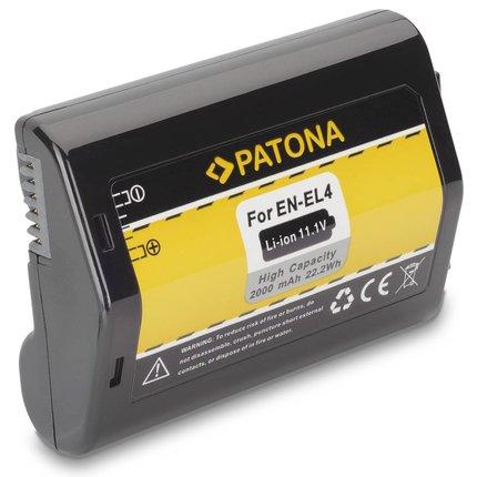 Patona Vervangende accu voor Nikon EN-EL4 EN-EL4a D2H D2Hs D2X D2Xs D3 D3X F6