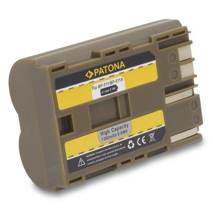 Patona Vervangende accu voor Canon BP-511 BP511 f. CANON EOS-1D/D10/D30/D60/300D - 1008