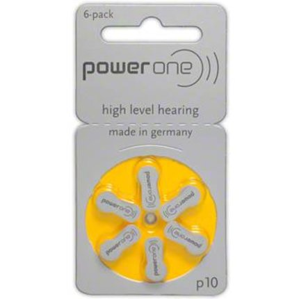 Powerone Powerone Zinc Air - Yellow Type 10 - 6 pcs blister
