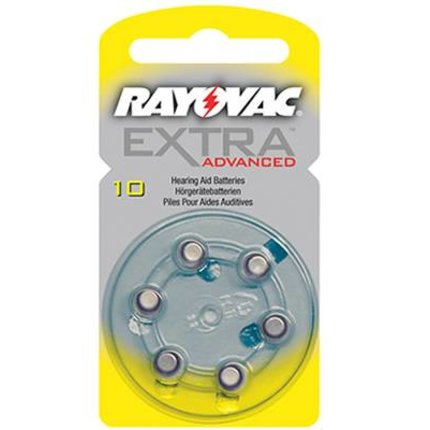 Rayovac Extra Advanced - Type 10 Geel - blister 6 stuks