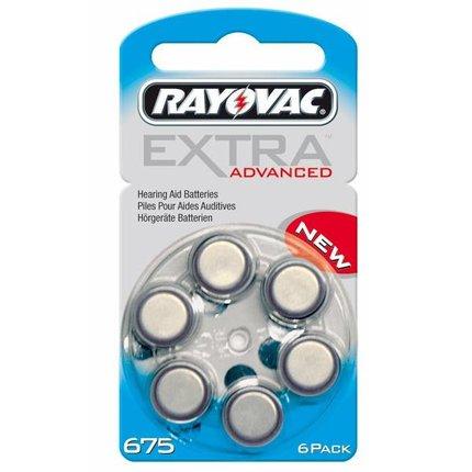 Rayovac Extra Advanced - Type 675 Blauw - blister 6 stuks