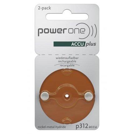 Powerone POWER ONE P312 ACCUPLUS Ni-MH - oplaadbare hoorapparaat batterij