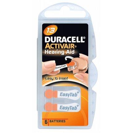 Duracell type 13 hoorbatterijen oranje