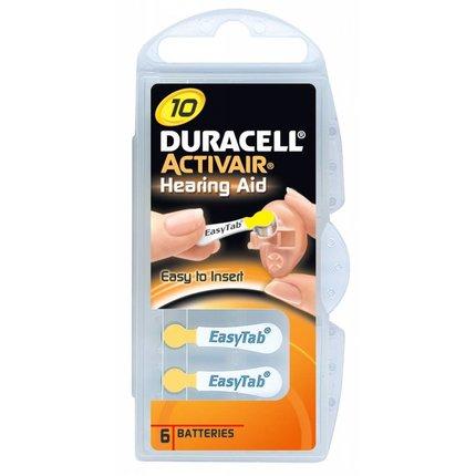 Duracell type 10 hoorbatterijen geel
