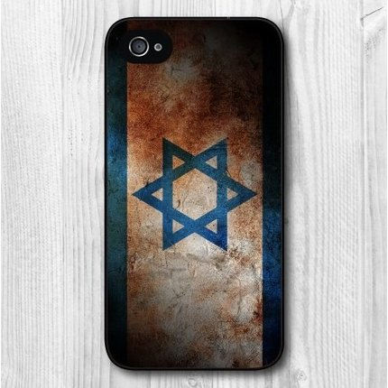 Batts Retro Israel Israeli flag vlag iPhone 4 cover Israelische flag cover