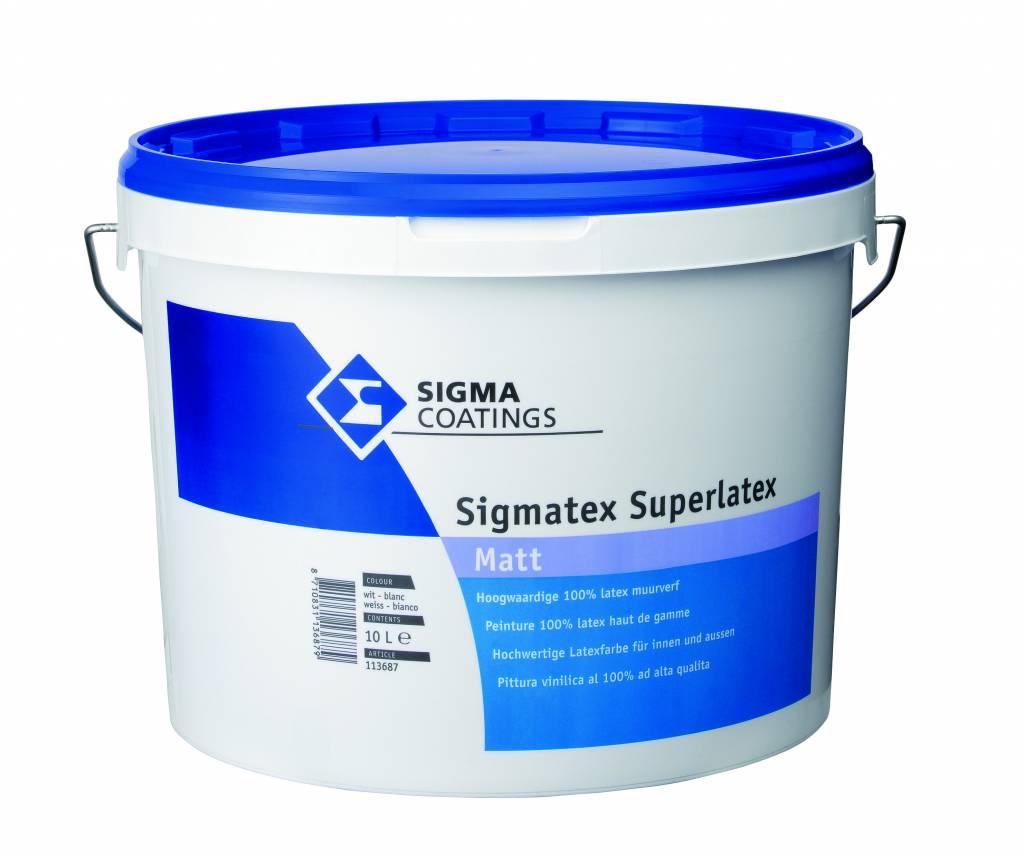 Sigma Sigmatex Superlatex Matt Wit of lichte kleur - Verfwebwinkel.be