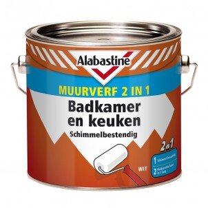 Alabastine Muurverf 2in1 Badkamer en Keuken - Verfwebwinkel.be