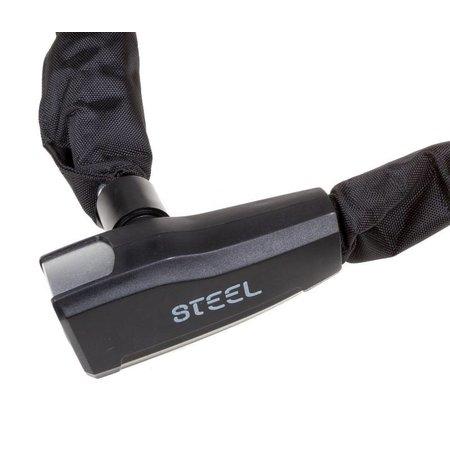 Steel Security Kettingslot Pro-force 110 CM - 8 MM - Zwart