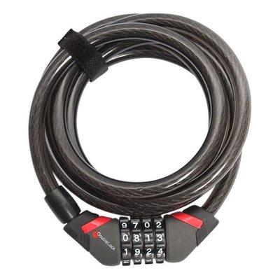 DoubleLock Kabelslot Coil Cable Combo 240 CM