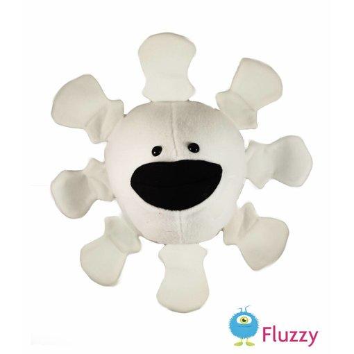 Weer knuffel handpop: sneeuwvlok