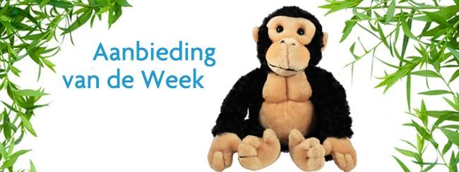 Aanbieding van de week: chimpansee knuffel