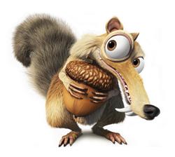 Ice Age eekhoorn Scrat knuffel 22 cm  Fluzzy