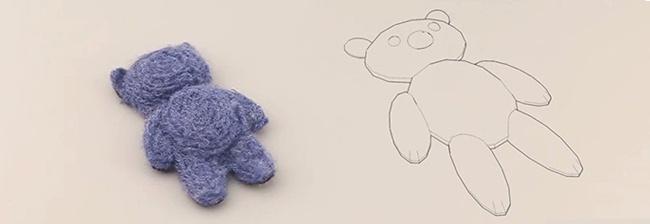 De eerste teddybeer uit een 3D printer
