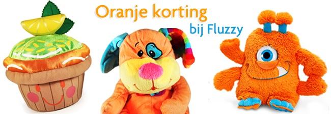 Oranje Korting bij Fluzzy!