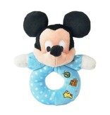 Mickey Mouse Mickey Mouse baby pluche rammelaar / bijtring blauw