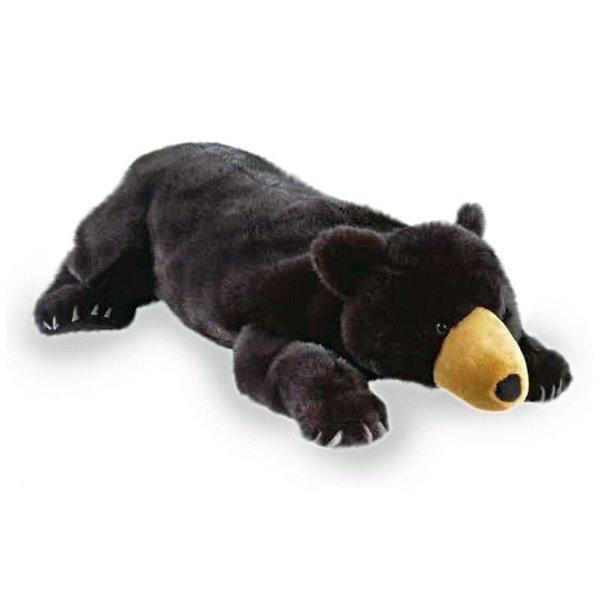 Zwarte Beer floppy knuffel groot (72 cm, Wild Republic)