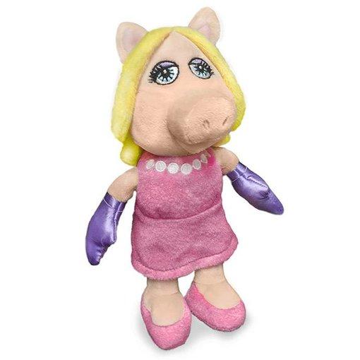 Muppets Muppets Miss Piggy knuffel (roze jurk)