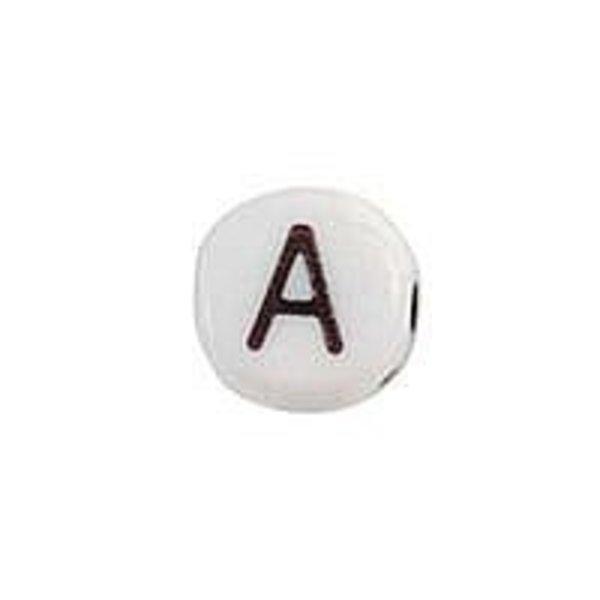 Letterkraal Acryl Zwart Wit 7mm A