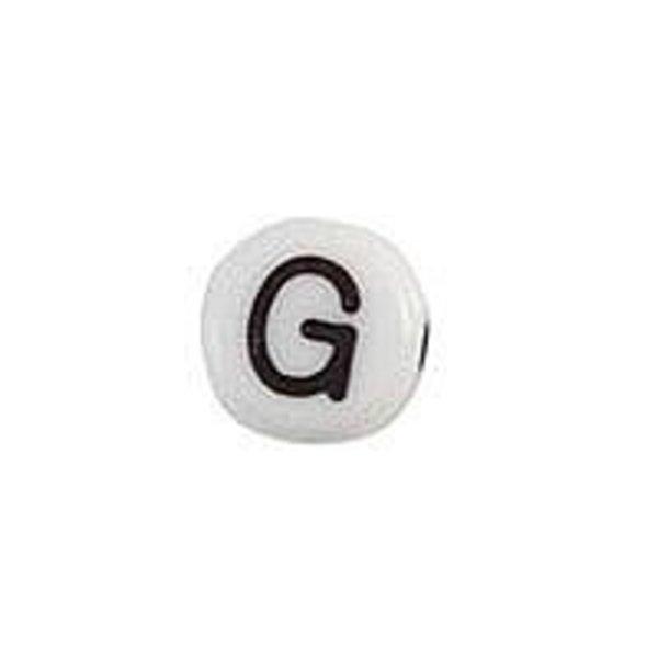 Letterkraal Acryl Zwart Wit 7mm G