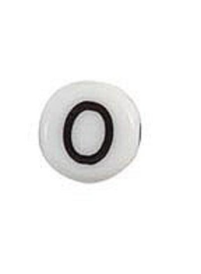 Letter Bead Acrylic Zwatr White 7mm O