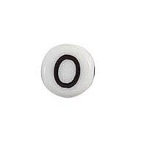25 pieces Letter Bead Acrylic Zwatr White 7mm O