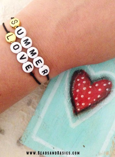 Summer Love Quote Bracelets