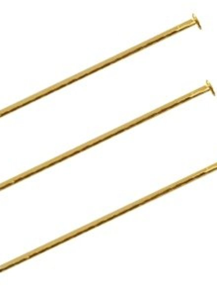 30 pcs Headpins 50mm Gold
