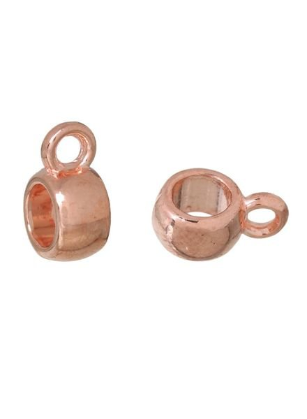 10 pcs Bail Bead Rose Gold 6mmx9mm