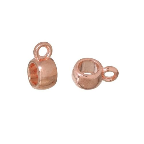 Bail Bead Rose Gold 6mmx9mm