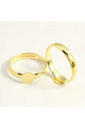 Verstelbare Ring Goud 17mm