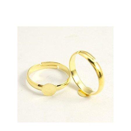 Verstelbare Ring Goud 17mm, 4 stuks