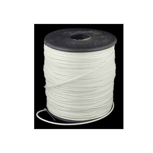 Waxcord White 1mm, 3 meter