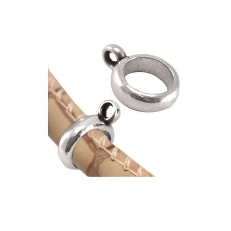 Bailbead Silver 14x10mm fits 6mm Cord