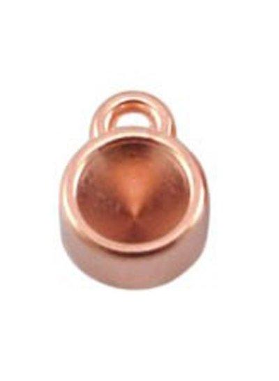 DQ Bedel Rose Goud kleur 12x8mm voor Puntsteen ss29