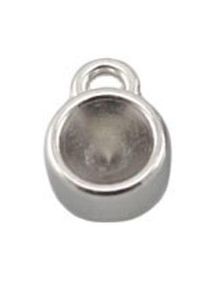 DQ Bedel Zilver 12x8mm voor Puntsteen ss29 / 6mm