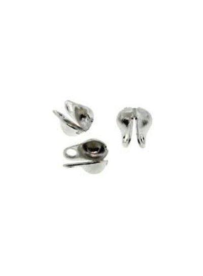 Eindkapje Zilver voor Ballchain 2mm, 10 stuks