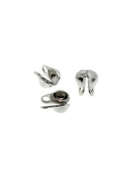 10 stuks Eindkapje Zilver voor Ballchain 2mm
