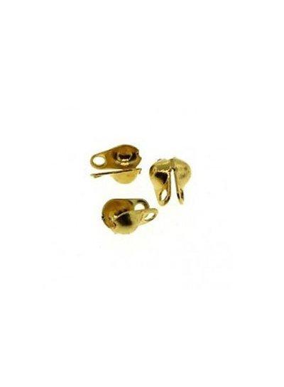 Eindkapje goud voor ballchain 2mm, 10 stuks