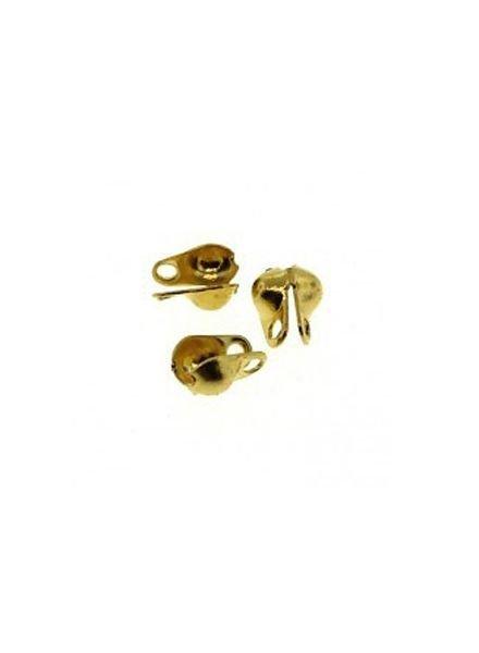 10 stuks Eindkapje Goud Voor Ballchain 2mm