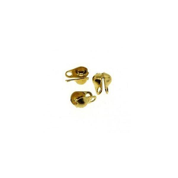 10 pieces Endcap for Ballchain Gold 2mm
