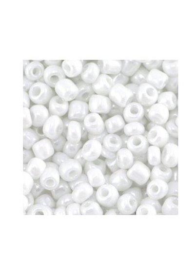 White 4mm seed beads, 20 gram
