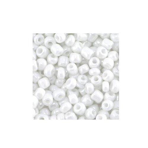 20 gram Rocailles Wit Shine 4mm