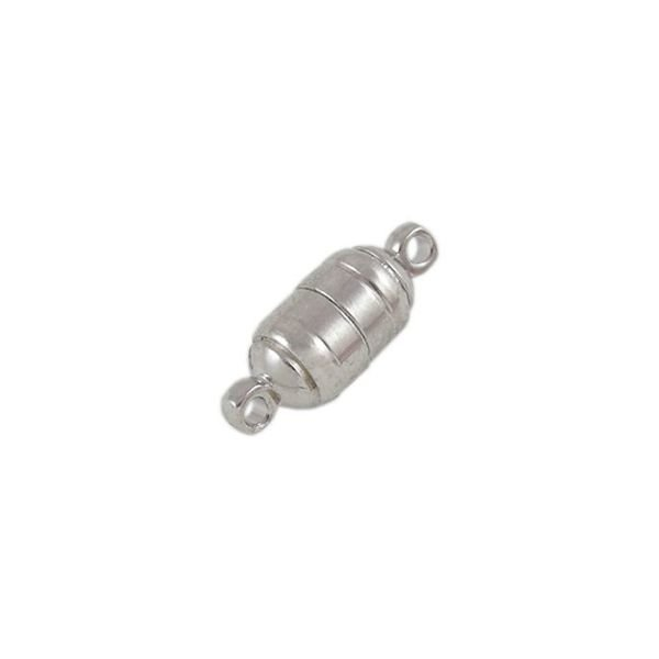 Magnetic Clasp Silver Nickel Free 15x6mm