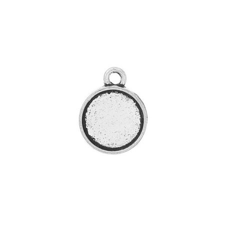 Silver Charm 16x13mm fits 10mm Cabochon,  5 pieces