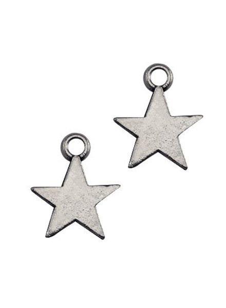 10 pcs Charm Star Silver 8x11mm