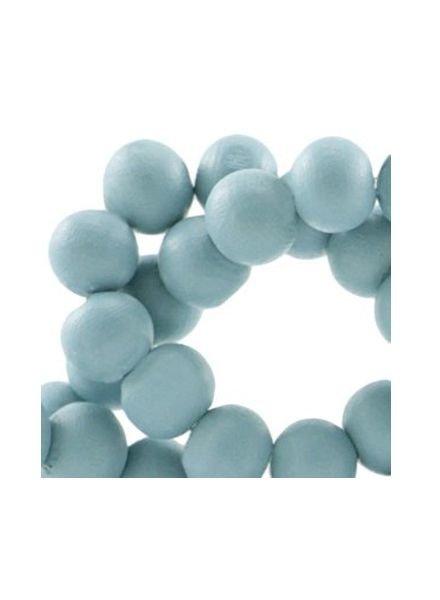 40 stuks Houten Kralen Blauw 6mm