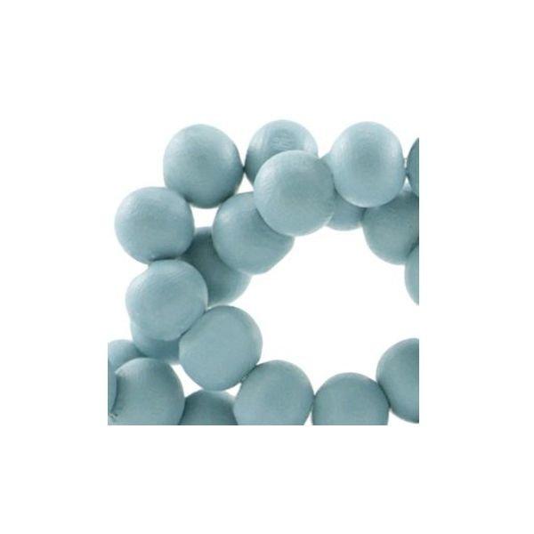 Houten Kralen Blauw 6mm, 40 stuks
