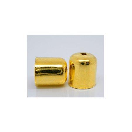 10 stuks Eindkap Goud voor 6mm