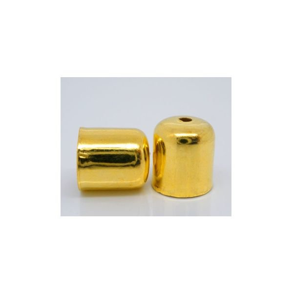 End Cap Gold for 6mm, 10 pieces